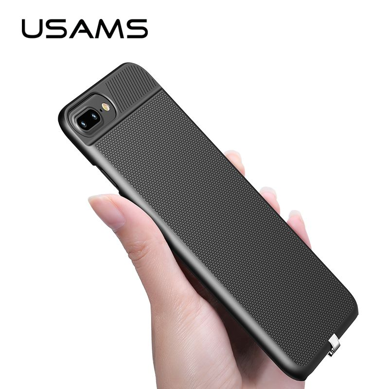 USAMS 2 in 1 Wireless Receiver Case Qi Receiver wireless charging for iphone 6 6s 7&Plus Phone case <font><b>cover</b></font> wireless charging case