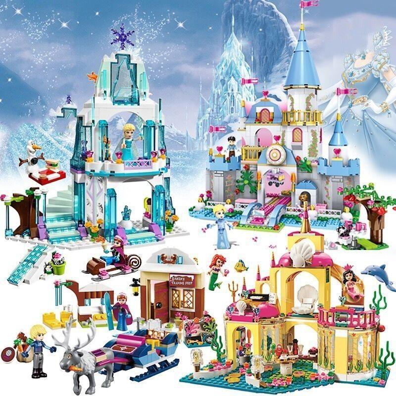 JG301 316pcs Princess Serie Elsa Magical Ice Castle Set Educational Building Block Bricks Toy for kids Compatible legoe Friends