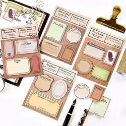 30 Sábanas/Lot vintage etiqueta plan semanal Notas Adhesivas Memo pad kawaii papelería planificador Adhesivos papel