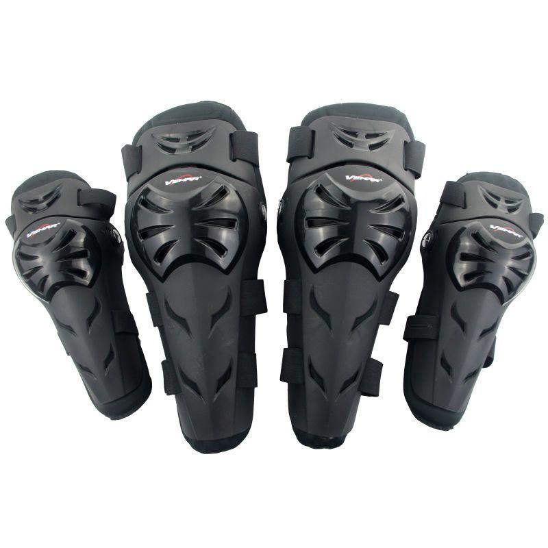 Vemar E02 Motocicleta Motocross Off-Road Racing Set Guardias de Seguridad Equipo de Protección Del Codo y Rodilleras Deporte Extremo Protectores negro