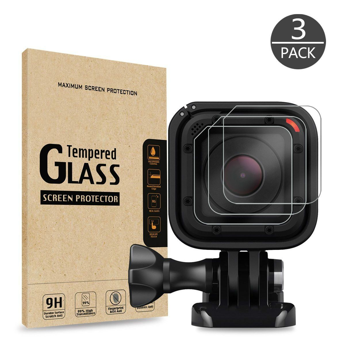 Gopro Hero 4 Session screen protector film Tempered Glass Lens For Gopro Hero 4 Session Sport Action Camera