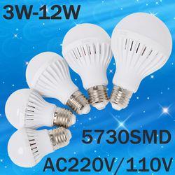 B22 LED Lampe E27 220 V 110 V Lumière 3 W 5 W 7 W 9 W 12 W 15 W 20 W SMD 5730 Focos Luz ampoule lampadas de Bombillas LED Ampoule Spotlight