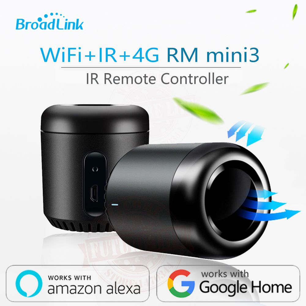 2019 Date Broadlink RM Mini3 haricot noir Maison Intelligente Universelle Intelligente WiFi/IR/4G Sans Fil télécommande Par smartphone