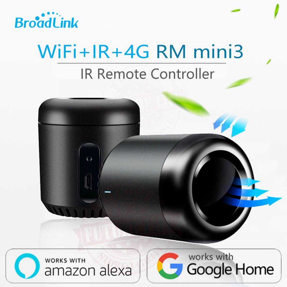 Newest Broadlink RM Mini3 Black Bean Smart Home Universal <font><b>Intelligent</b></font> WiFi/IR/4G Wireless Remote Controller By Smart Phone