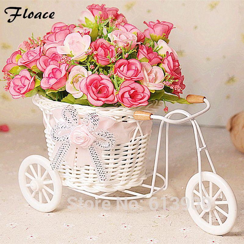 Floace fleurs + vase Petits flotteurs rose artificielle fleurs décoration fleur d'ameublement