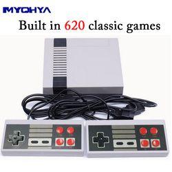 MYOHYA Mini Rétro Classique Jeu Vidéo Console Intégré 620 Jeux 8 Peu PAL & NTSC Famille TV joueur de jeu de poche Double Gamepads