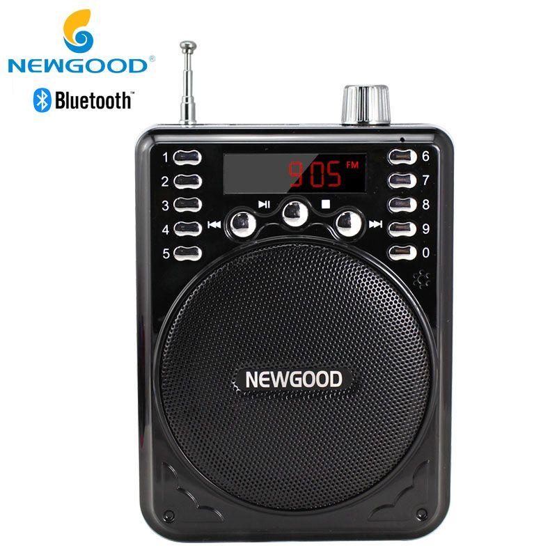 Bluetooth Inalámbrico Amplificador de Voz Altavoz Portátil con FM Micrófono Inalámbrico Megáfono Altavoces Portátiles con USB TF