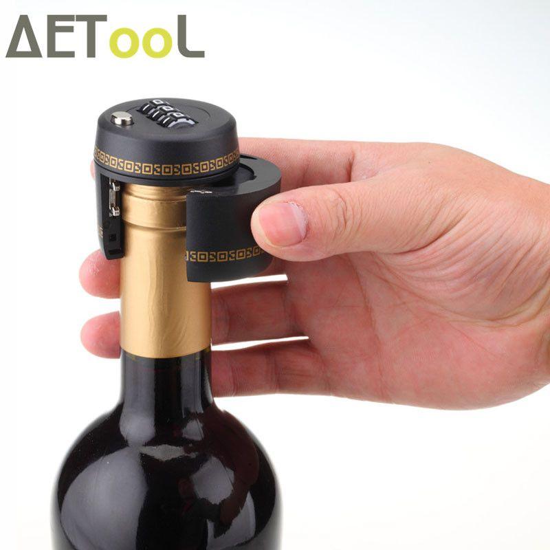 AETool New Plastic Bottle Password Lock Combination Lock Wine stopper vacuum plug Fechadura Picks Candados Stopper Preservation