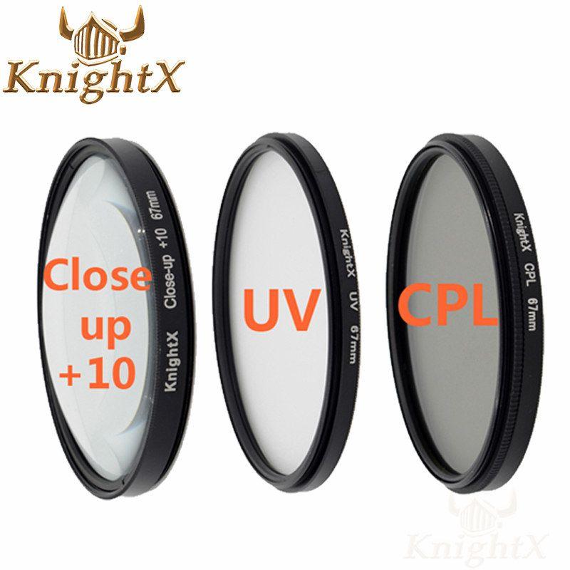 KnightX 67mm 52mm 58mm filtre polarisant cpl uv pour nikon d5300 Canon 1200d 600d 100d lentille 5D 6D 7D 70D d3300 d3200 d5200 d5500