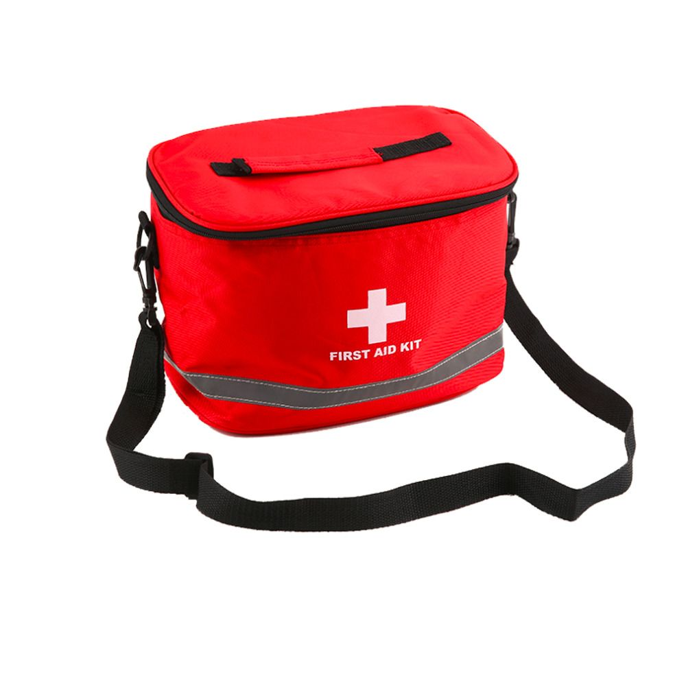Large Red Nylon Survival First Aid Kit Bag Home Outdoor Camping Medical Bag Emergency Survival Storage Case Free Shipping