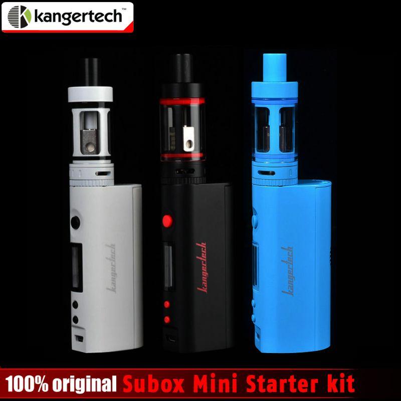 100% Original Kangertech Subox Mini Starter kit 50W 0.3ohm Kangertech Subtank Mini Atomizer Kbox Mini  no 8650 Battery