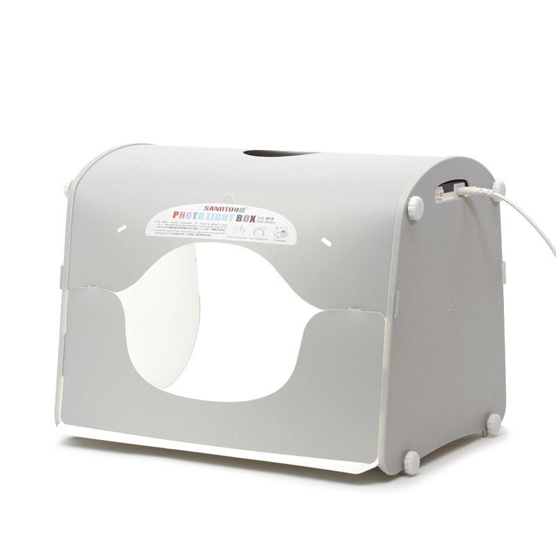 Dhl expédition SANOTO softbox photo boîte à lumière studio de photographie portable mini boîte photo mk40 - led pour 220 / 110 V ue US UK ua