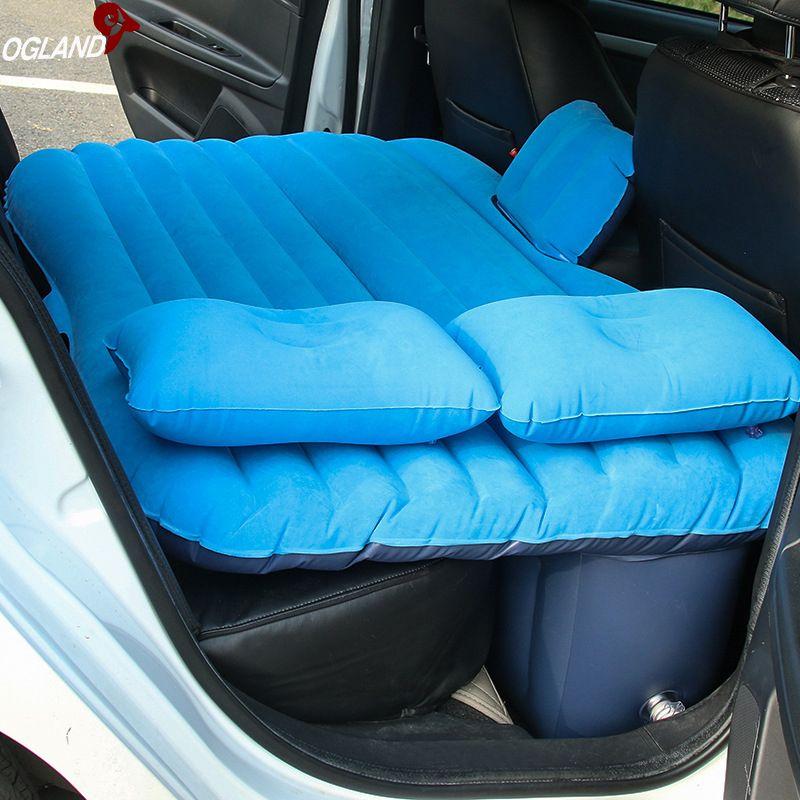 Lit gonflable de matelas de voyage d'air de voiture d'ogland universel pour le siège arrière coussin multifonctionnel de tapis de Camping extérieur d'oreiller de Sofa