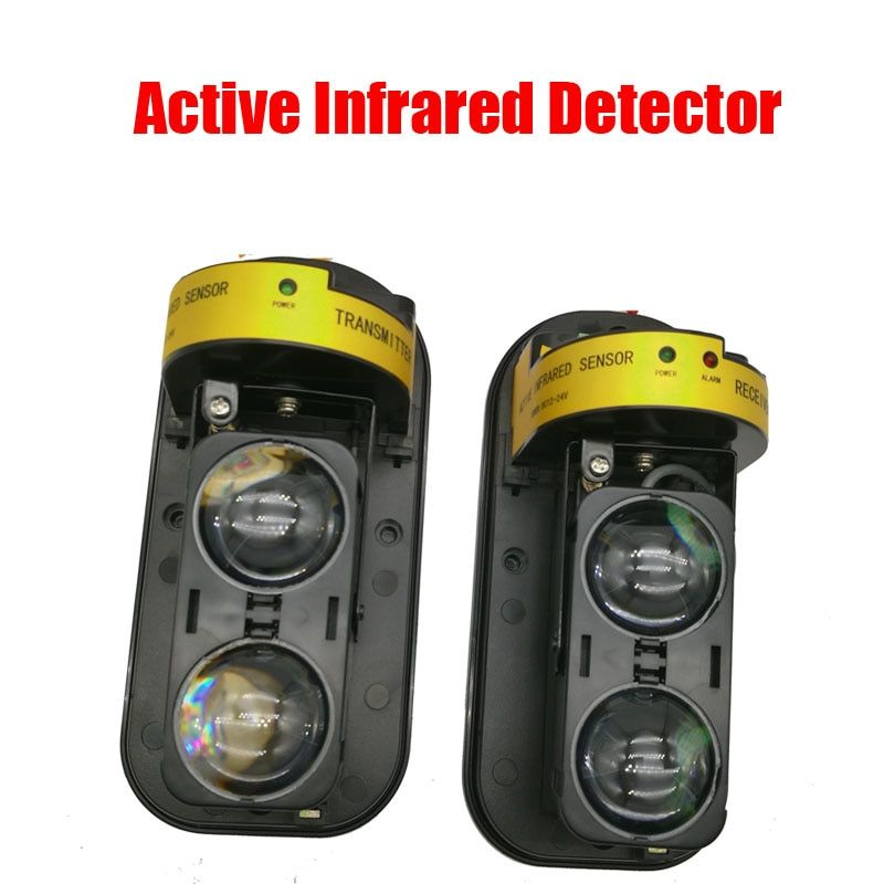 Free Shipping Photoelectric Dual Beam Perimeter Fence Active Infrared IR Sensor Barrier Detector Window Outdoor Intrusion Alarm