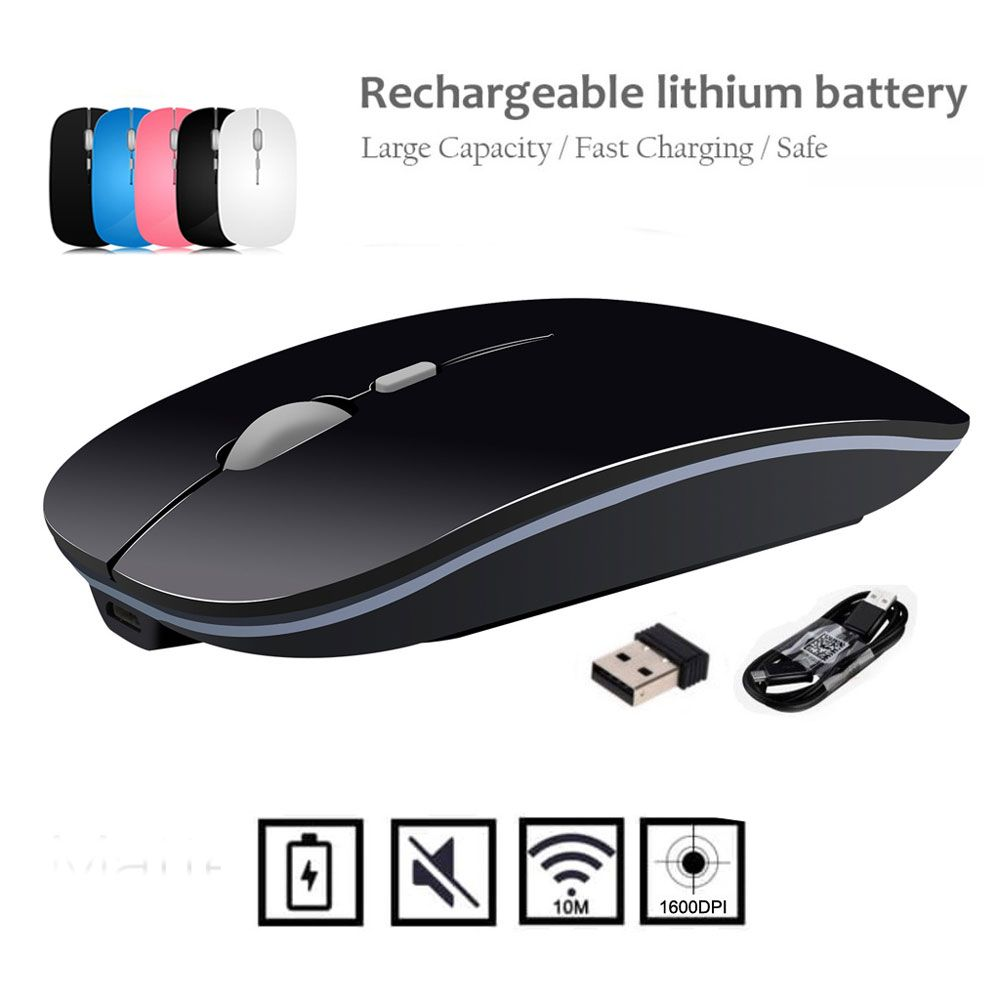 Souris sans fil Rechargeable de qualité supérieure IceRay avec câble de charge clé silencieuse 2400 DPI 600 MAH