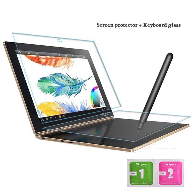 Pour Lenovo Yoga Book 10.1 pouces verre trempé + clavier verre protecteur plein écran Transparent 2.5D bord 9 H dureté