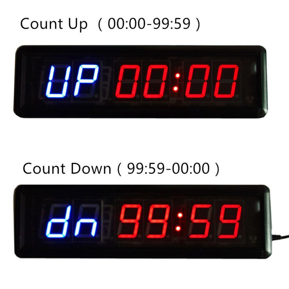 Große 1,8 ''Fitness Gym WOD CrossFit Intervall Timer Countdown Stoppuhr Alternative Timing für Ausbildung und Rest LED WANDUHR