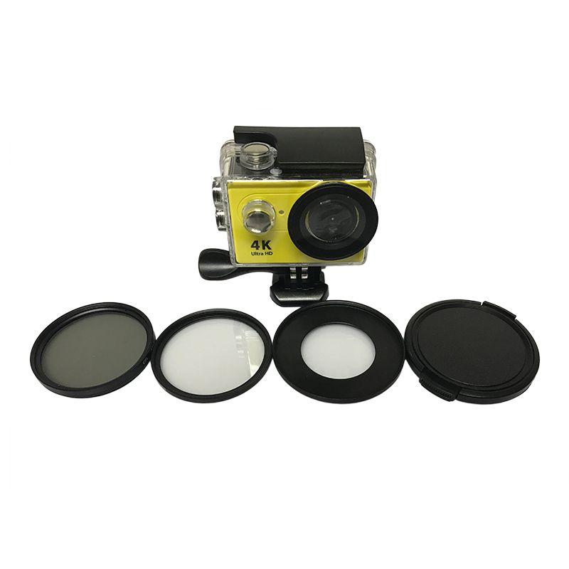 Tekcam pour Eken accessoires H9r 52mm CPL polariseur circulaire filtre UV couvercle de lentille pour Eken V8S h9 h9se H8 h8r h8pro h8se H3 h3r