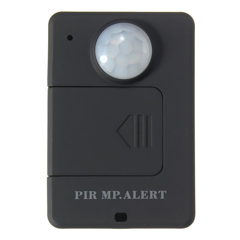 Mini Negro GSM Alerta Monitor Del Sensor de Infrarrojos de Detección de Movimiento Inalámbrico PIR MP Alarma de Alta Sensibilidad Durable Calidad