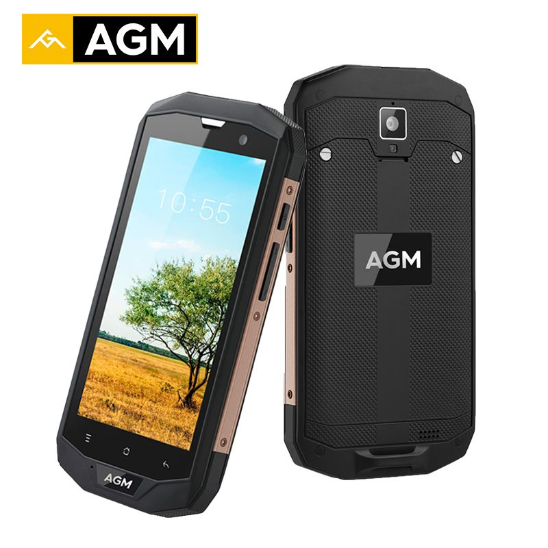 AGM A8 US Android 7.0 Smartphone IP68 Waterproof Qualcommn MSM8916 Quad Core Gorilla Glass 5.0 Inch 4G LTE Mobile Phone 4050mAh