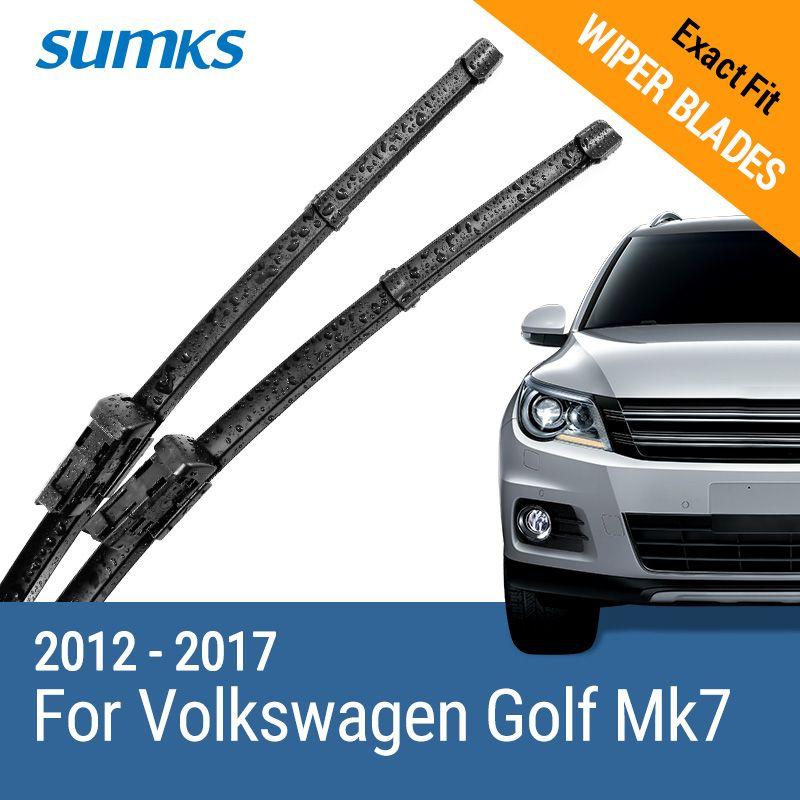 SUMKS Wiper Blades for Volkswagen Golf Mk7 26