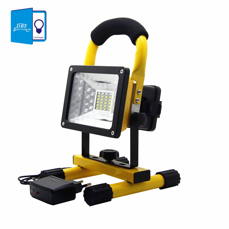 [DBF]Waterproof IP65 SMD3528 24LED 3models 30W LED Flood light Portable SpotLights Rechargeable Outdoor LED Work Emergency light