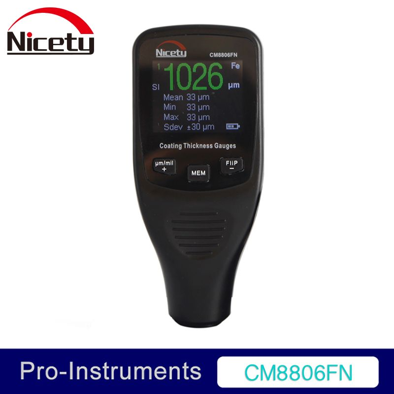 Nicety CM8806FN Car Body Tester Detailing Tool Auto Coating Thickness Gauge Car Paint <font><b>meter</b></font> 50mil 1250um Tester