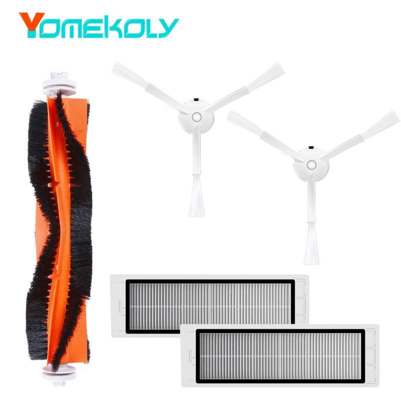 Robot Aspirateur Pièces De Rechange pour Xiao mi mi Roborock Kits Remplacement Kits De Nettoyage Brosses Latérales HEPA Filtre Rouleau brosse