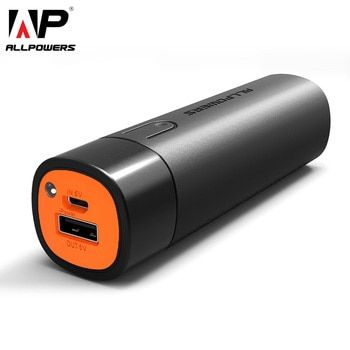 ALLPOWERS 5000mAh Power Bank Portable External Battery Pack Phone Charger for iPhone Samsung Huawei Xiaomi