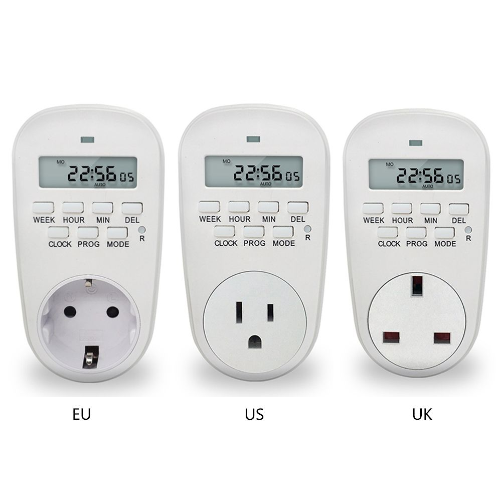 EU/US/UK Stecker Smart Power Steckdose Digital Timer Schalter Energieeinsparung Einstellbar Programmierbare Einstellung der Uhr/ auf/Off Zeit
