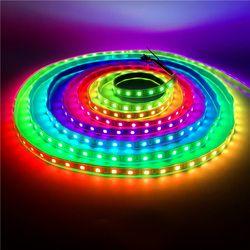 0,5-5 м 30/60 светодиодный s/M 2811 Пиксели программируемый индивидуальный адресуемый Светодиодные ленты света WS2811 5050 RGB 12 V черная матовая Светодио...