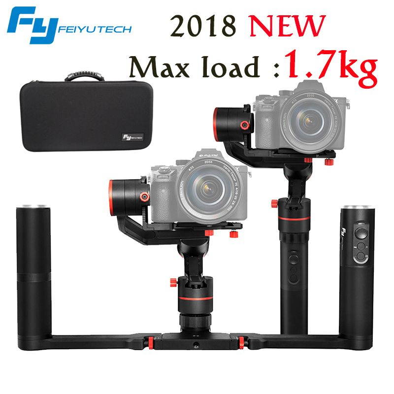 2018 NEWEST FeiyuTech Feiyu A1000 3 Axis Handled Gimbal Stabilizer for a6500 a6300 iPhone 7 X Plus VS zhiyun crane M load 1.7KG