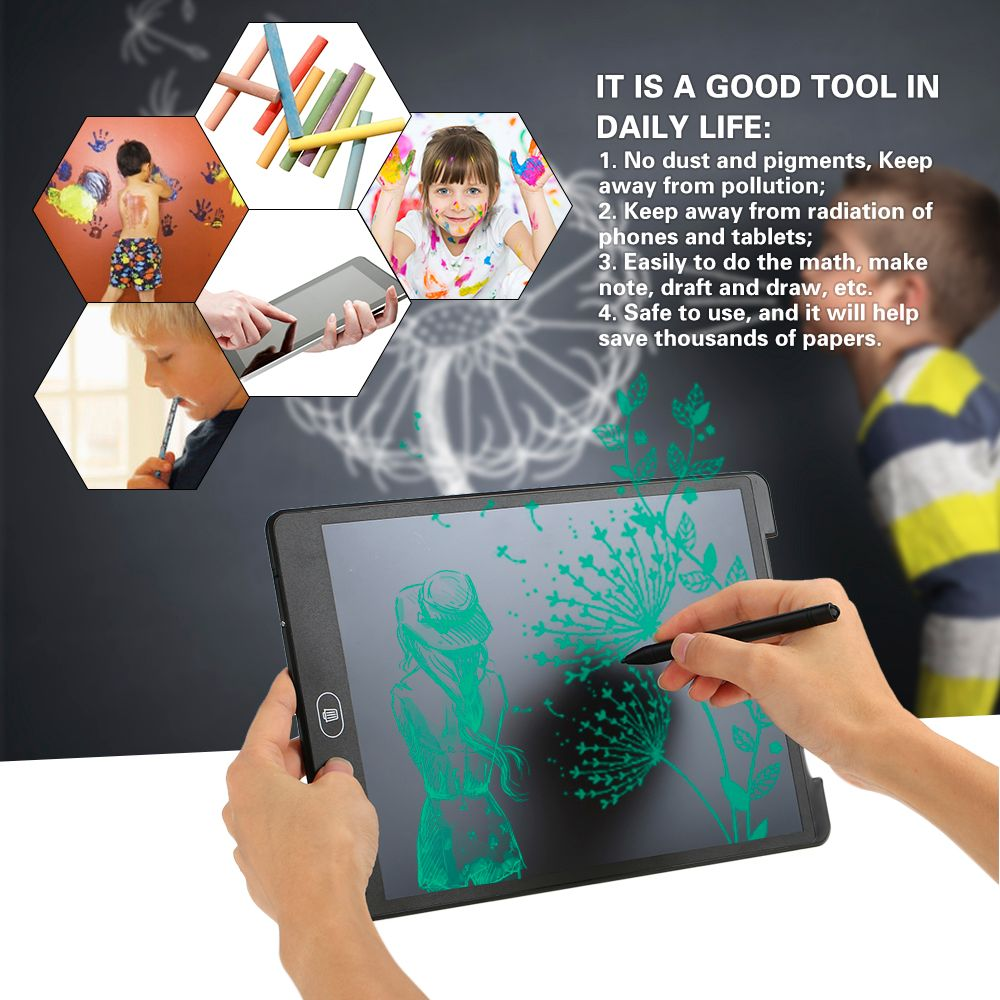 12inch digital drawing Tablet Erase Drawing Tablet Electronic paperless LCD Handwriting Pad Kids Writing Board for kids