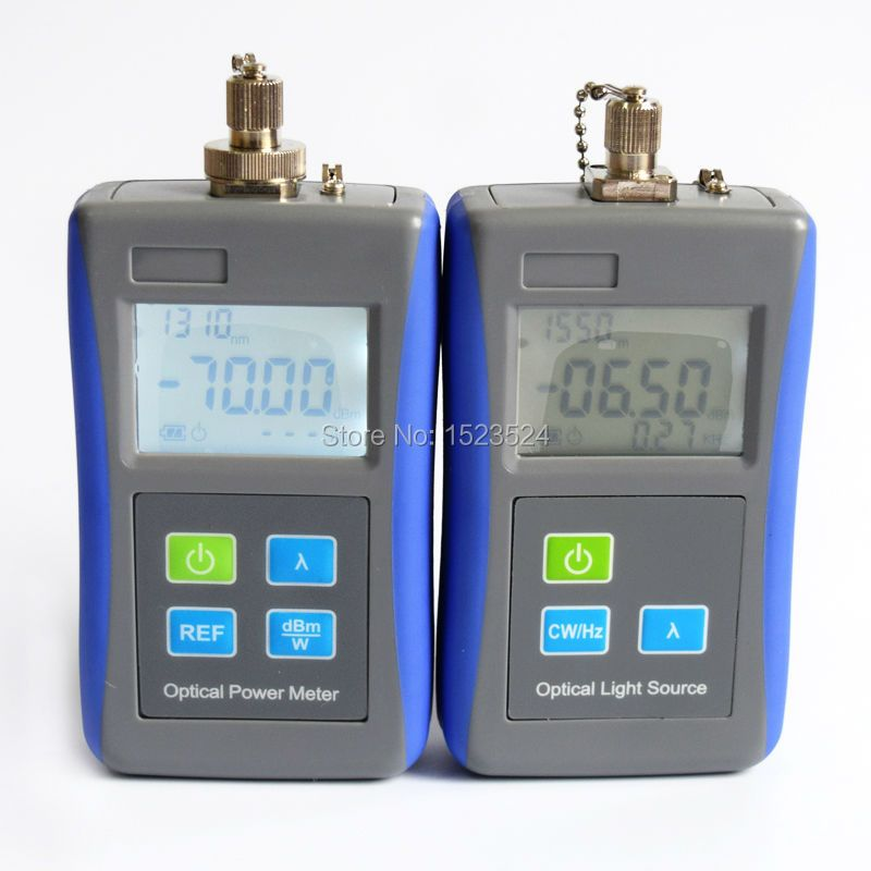 FTTH Optical Multimeter Mini Optical Power Meter -70~+10dB and Mini Optical Light Source 1310/1550nm