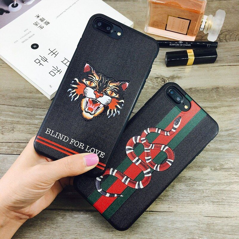 Fashion Emboss Snake Cat Candy TPU Case For iphone 6 6s 6plus 7 7plus 8 8plus iphone X Soft Silicone Phone Back Cover Cases Capa