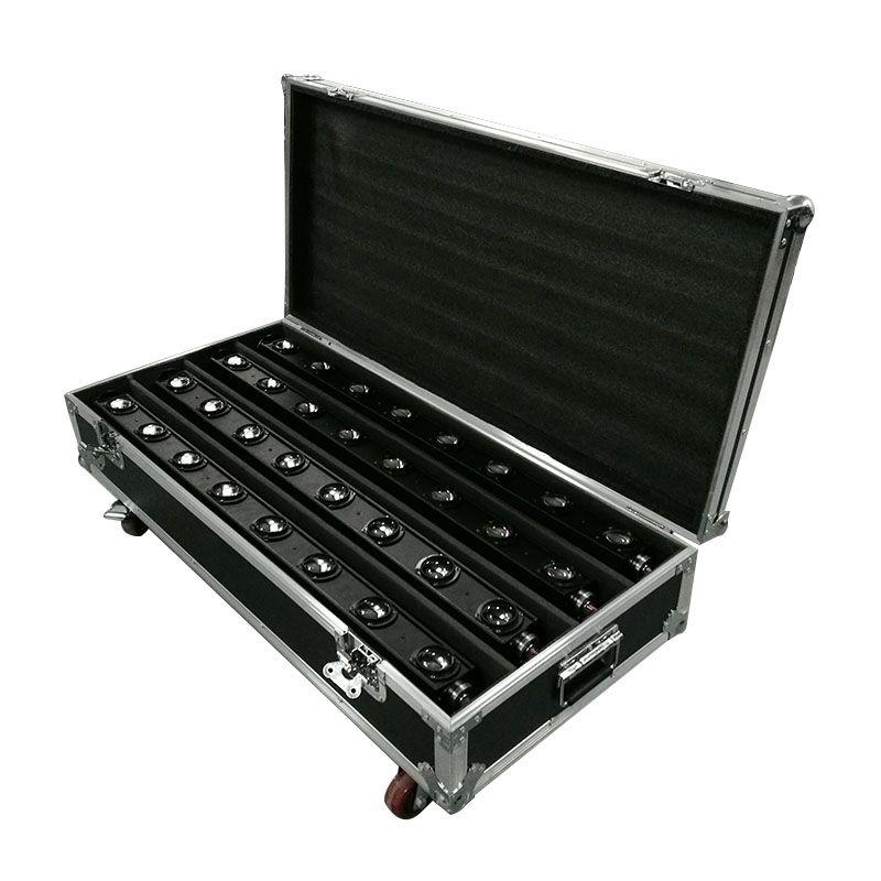 FlightCase With 4pcs LED 8x12W Bar Beam Moving Head Light RGBW Perfect For Mobile DJ Party Nightclub Dance Floor Disco