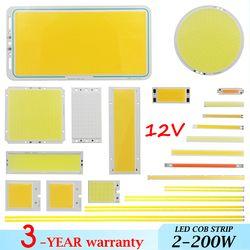 Новогодняя большая акция микс DC 12 V 2 w-200 w led cob полоса лампа светоизлучающий диод красочный cob для автомобильных ламп светодиодная лента cob чи...