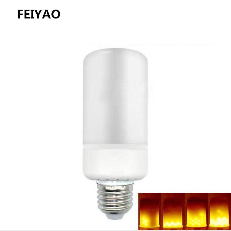 1pcs  New led  E27 E14 85V-265V 7W  2835SMD LED Flame Lamp  Effect Fire Light Bulbs  Flickering Emulation flame Lights
