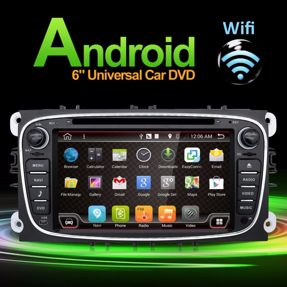 2 Din <font><b>Android</b></font> 6.0 Car dvd gps player car stereo radio for Ford Mondeo Focus built in GPS CAMERA PARKING +Wifi+Bluetooth+USB+SD