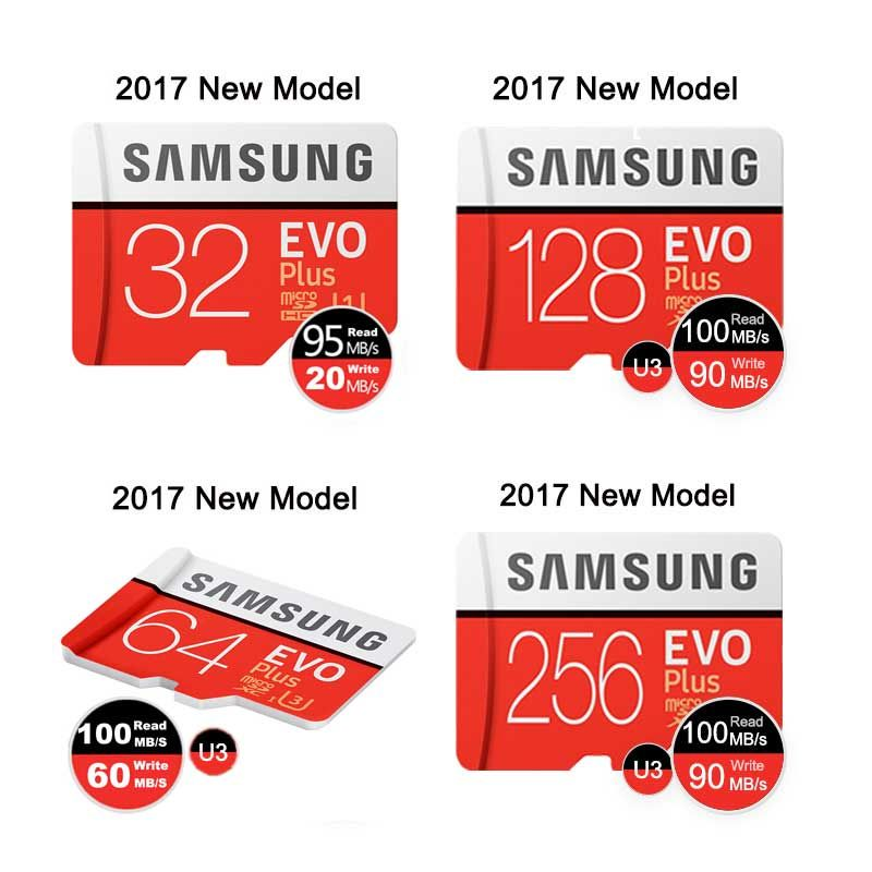 Samsung Micro Sd Carte Mémoire Carte 32 gb 64gb128gb 256g EVO Plus classe 10 TF Carte C10 Memoria microSDHC/SDXC UHS-I U1 U3 Microsd