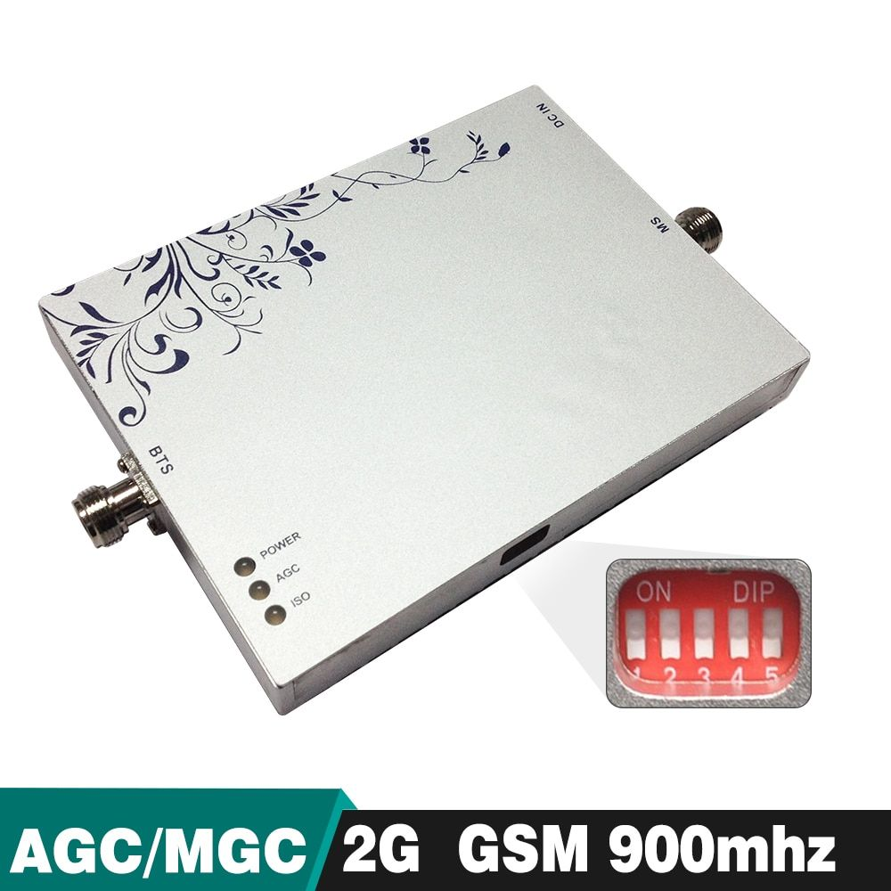 2g GSM 900 mhz AGC MGC Handy Signal Booster Leistungsstarke 75dB Verstärkung GSM 900 Handy-Signal-Repeater Cellular Verstärker bis zu 500sqm