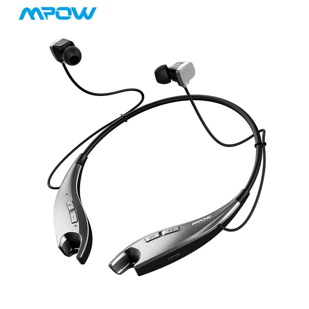 2019 NOUVEAU Mpow Mâchoires écouteurs bluetooth sans fil Casque Cou Halter Style écouteurs oreillettes Appels Mains Libres pour iPhone X/8/ 7