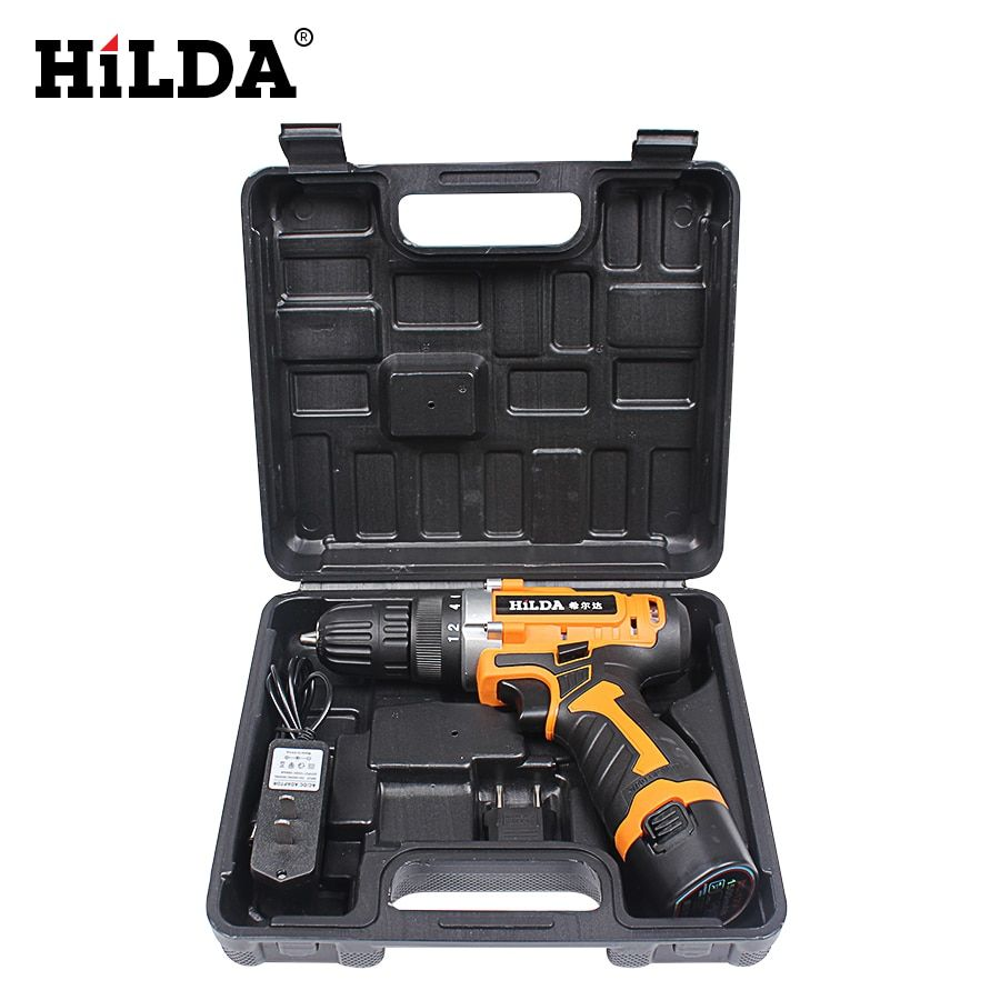12V Electric Screwdriver Lithium Battery Rechargeable Screwdriver Drill Multi-function Cordless Electric Drill Power Tools