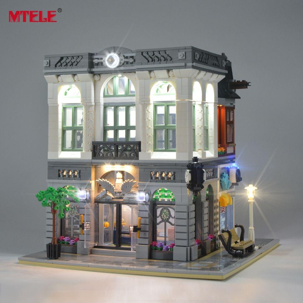 Kit MTELE lumière LED Up pour jeu d'éclairage de banque vert brique créateur Compatible avec 10251 (modèle non inclus)