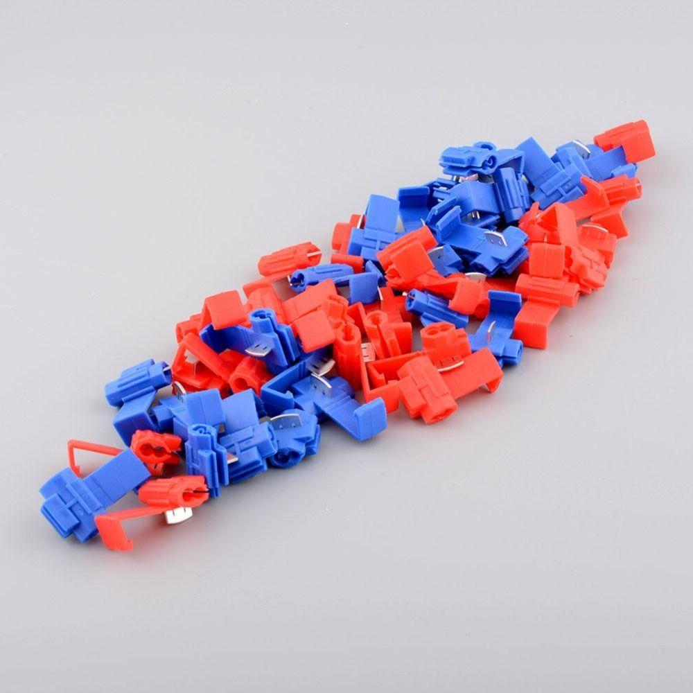 Nützliche 50 Stücke Rot Blau Auf Stecker Crimp Wire Splicer Terminal Schloss Splice