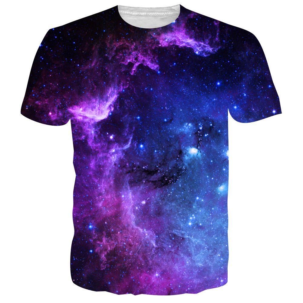 BFUSTYLE hommes t-shirts T-shirt 2019 mode été espace galaxie 3D impression hauts Tess Camisetas Hombre Hipster marque T-shirt