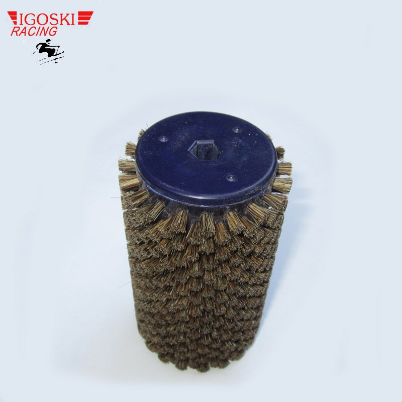 Brosse à Roto pour cheveux de cheval IGOSKI pour l'épilation à la cire de Ski de fond convient à un arbre hexagonal de 10mm