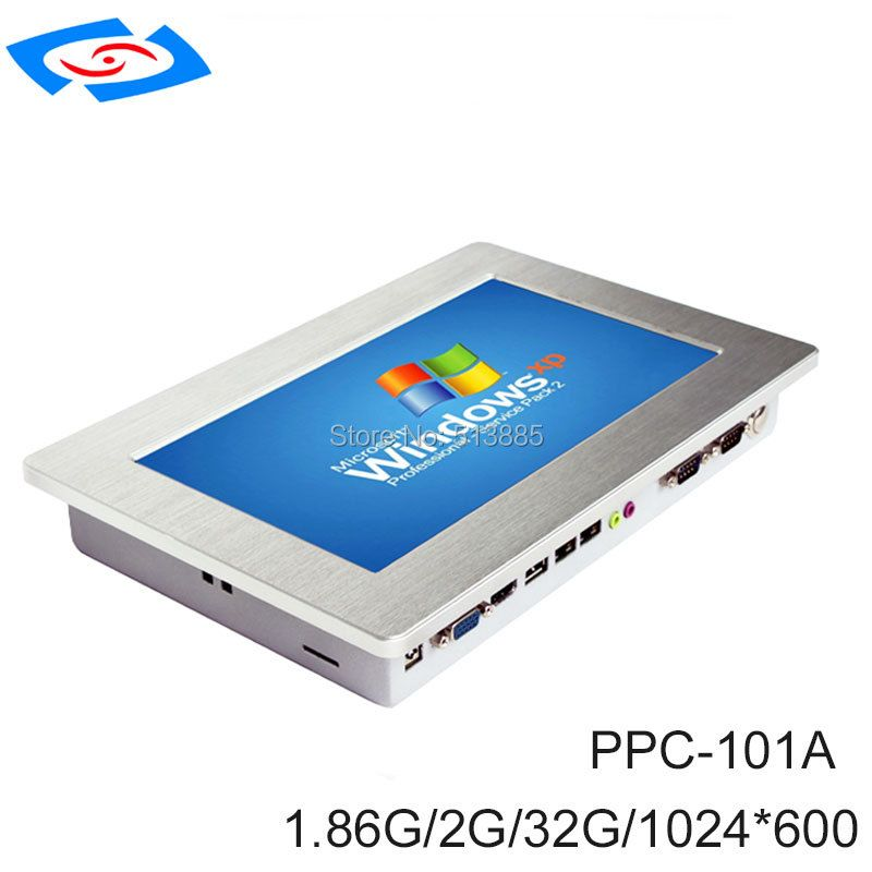 Wand halterung 10,1 zoll Mit Ram 2 gb + SSD 32 gb (optional 64 gb, 128 gb, 256 gb) touchscreen Industrie panel pc