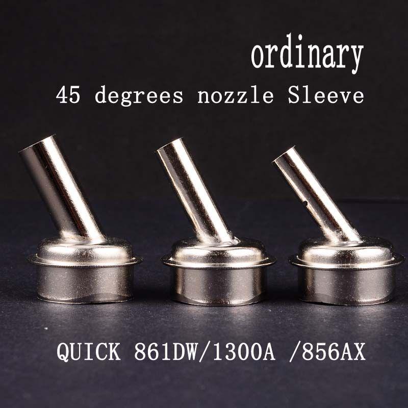 QUICK 861DW TR1300A Heat air gun nozzle for A8 A9 A10 A11 CPU heating Microscope BGA Soldering Repair 45 degrees nozzle Sleeve