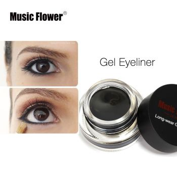 Music Flower Eye Liner Quick Drying Makeup Brushes  For Eyeliner 3 color Waterproof Blue Gel Cosmetic Tool